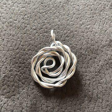 kleine Rose Silber