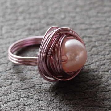 Ring Nest in Rosa