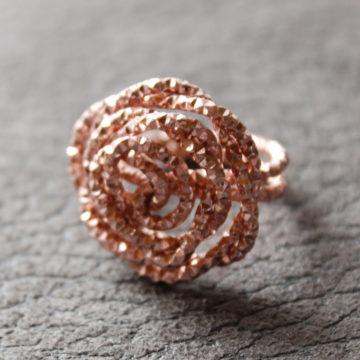 Ring Rose Glitzer geprägt