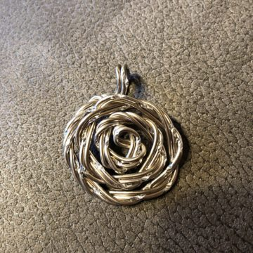 Rose Platin Diamant Silber