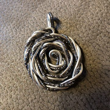 Rose Silber Black-Diamond glitzernd